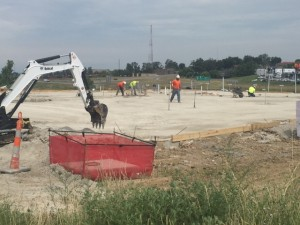 Slab to be poured, then we go vertical!