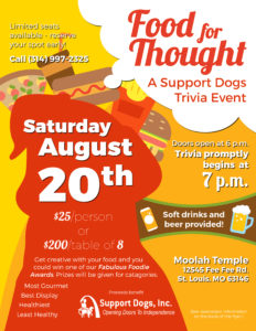 Trivia Night Flyer - Food for Thought